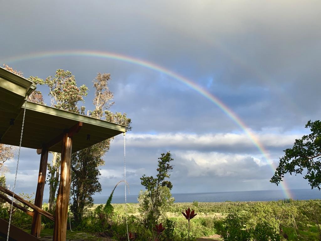 Rainbow over view from Sundari